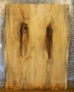 2- Rustic Live Edge Boxelder Bookmatched Kitchen Table Top Slabs M67 7012-7013