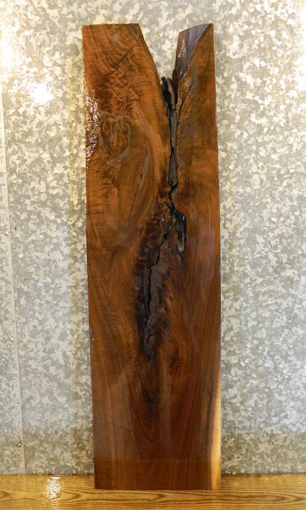 Highly FiguredBlack Walnut Rustic Lumber Board/Mantel Slab LSWS02 7077