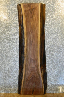 Salvaged Live Edge Black Walnut Console Table Top 7098