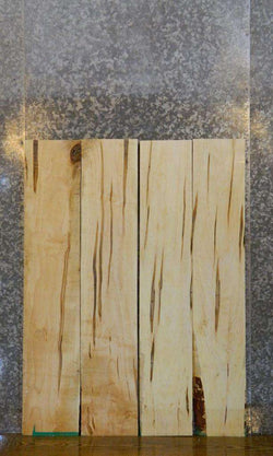 4- Ambrosia Maple Reclaimed Kiln Dried Lumber Boards LSWS15 7591-7594