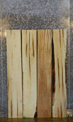 4- Kiln Dried Ambrosia Maple Salvaged Lumber Boards LSWS15 7632-7635