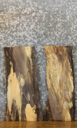 2- Spalted Maple Live Edge Rustic Craft Pack Wood Slabs 7820-7821