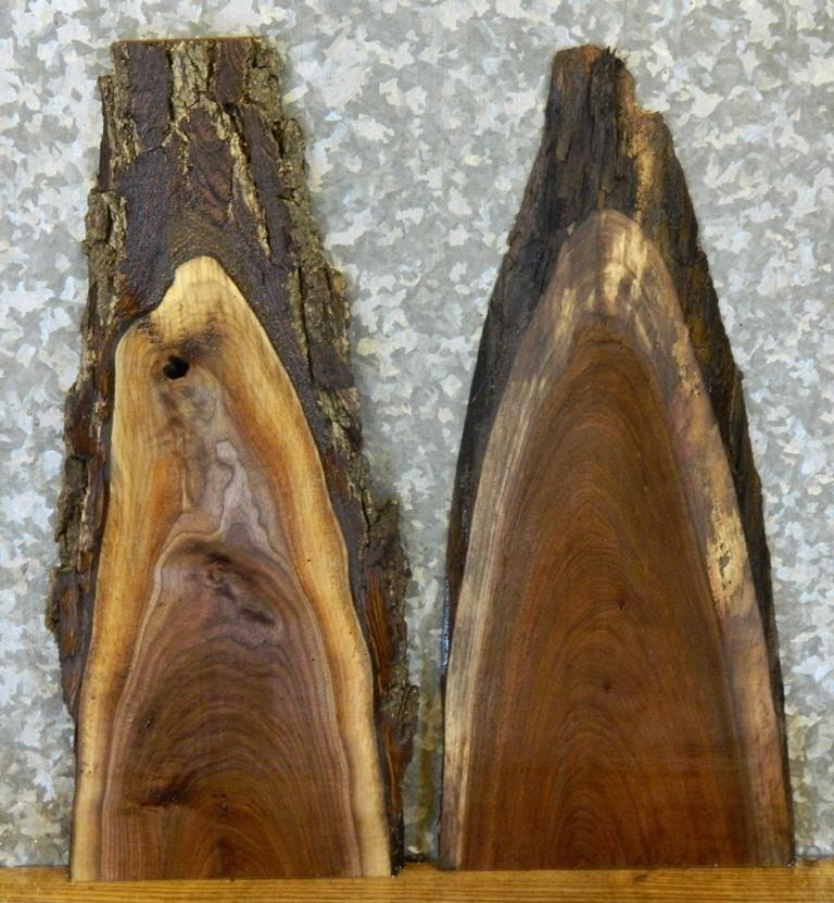 2- DIY Black Walnut Natural Edge Charcuterie Boards/Craft Pack Slabs 7841-7842