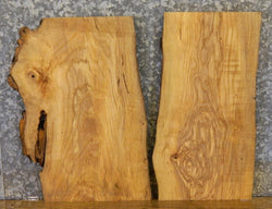 2- Ash End/Entry/Side Table Top Live Edge DIY Charcuterie Boards 7868-7869