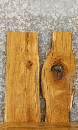2- Rustic Live Edge White Oak DIY Charcuterie Boards/Slabs 7879-7880