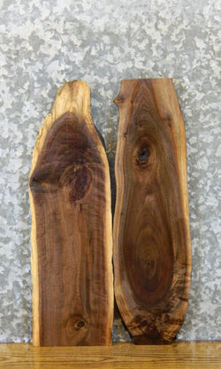 2- Live Edge Black Walnut Rustic DIY Charcuterie Boards/Slabs 7888-7889