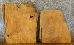 2- Partial Natural Edge Ash End/Entry Table Top Rustic Wood Slabs 7987-7988