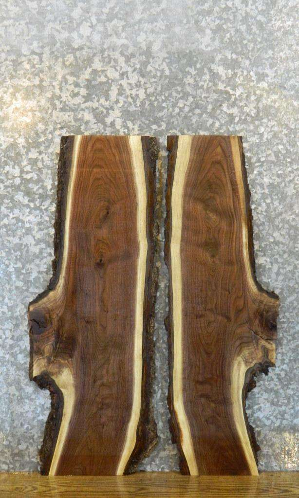 2- Salvaged Black Walnut Live Edge Craft Pack/Wood Shelf Slabs 8174-8175