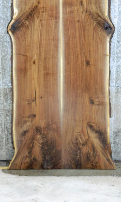 2- Bookmatched Black Walnut Live Edge Dining Table Top Slabs 825-826