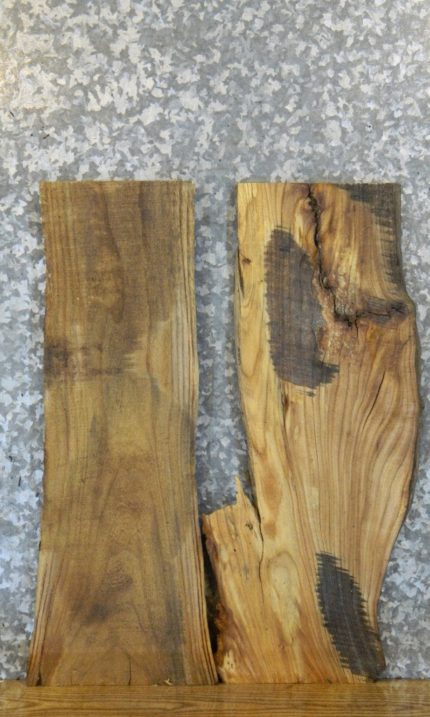 2- Rustic Natural Edge DIY Elm Charcuterie Boards/Slabs 8358-8359