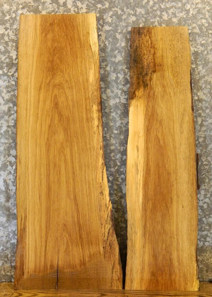 2- Natural Edge White Oak End/Entry/Side Table Top Wood Slabs 8435-8436