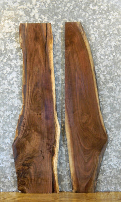 2- Partial Live Edge Black Walnut DIY Charcuterie Boards/Slabs 8474-8475