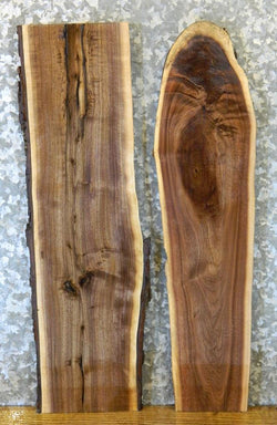2- DIY Natural Edge Black Walnut Rustic Charcuterie Boards/Craft Pack 8514-8515