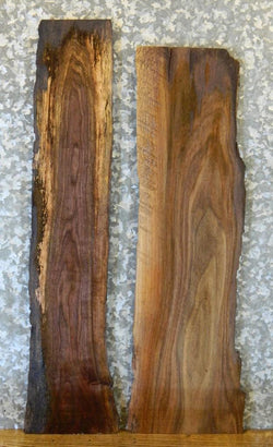2- Rustic Live Edge Taxidermy Base/Craft Pack Black Walnut Wood Slabs 8532-8533