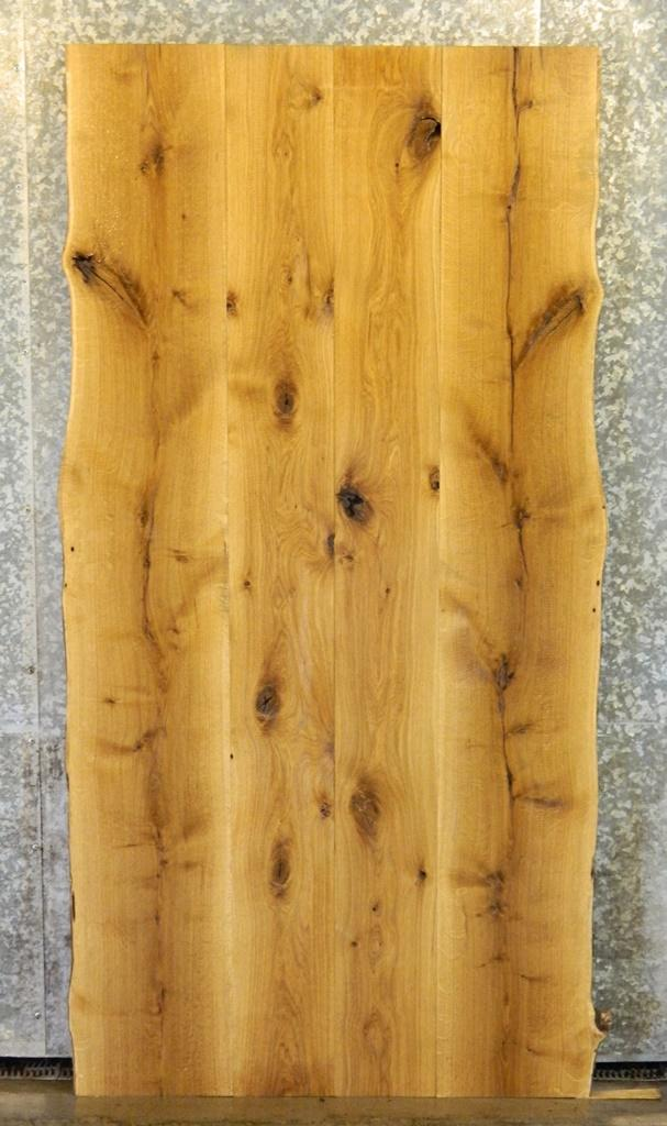 4- DIY Natural Edge Bookmatched White Oak Dining Table Top Slabs 95-98