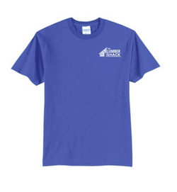 Royal Blue The Lumber Shack Logo T-Shirt
