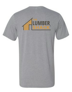 Grey The Lumber Shack Logo T-Shirt