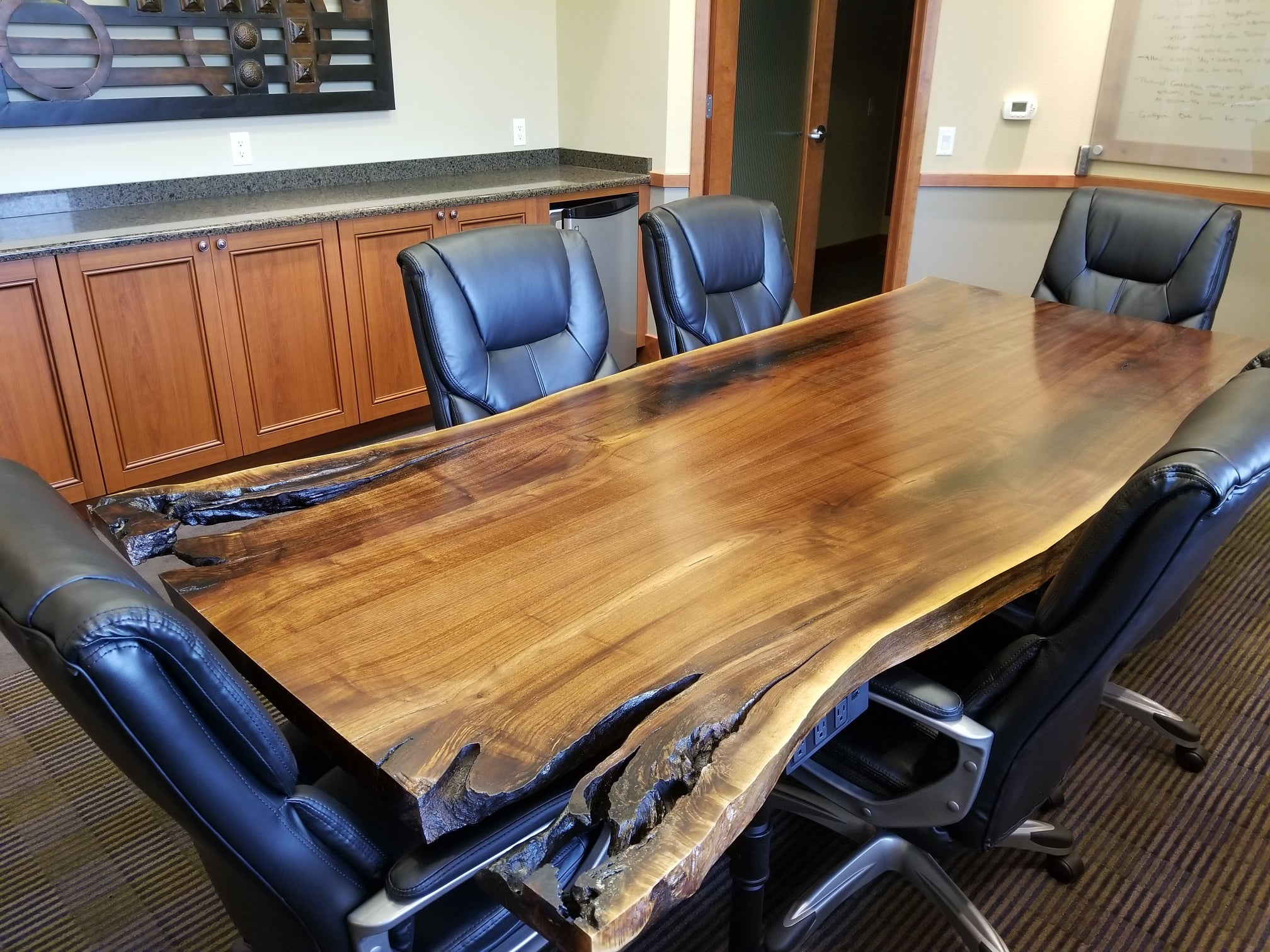 live edge wood conference table