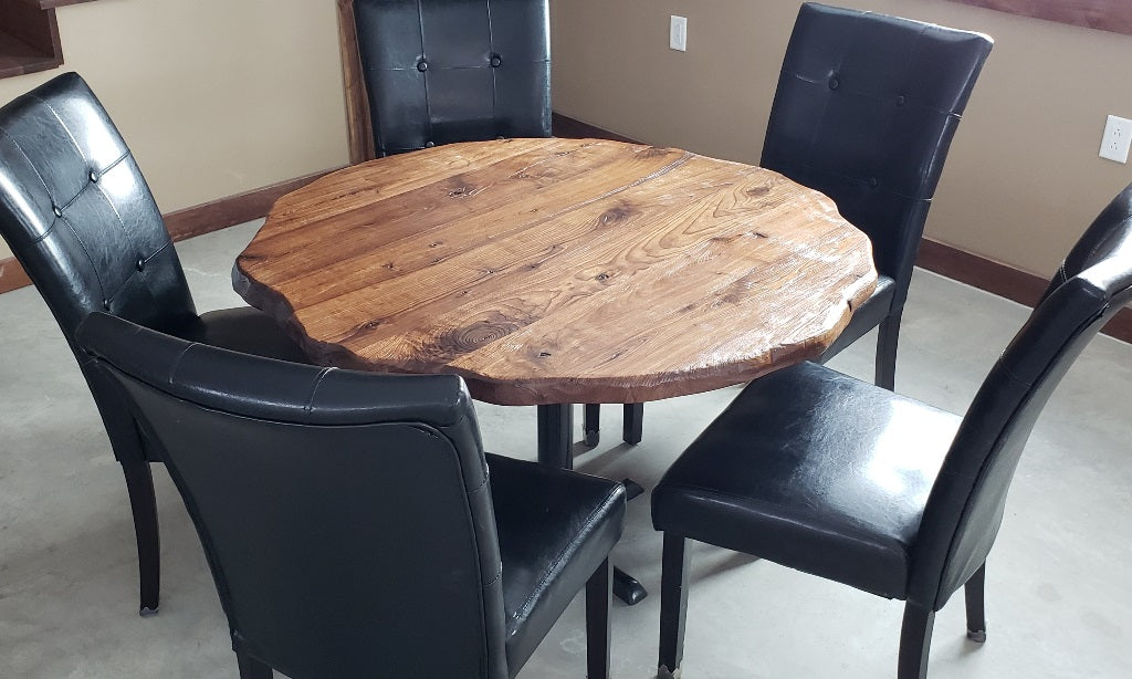 Round Live Edge Solid Wood Table Tops