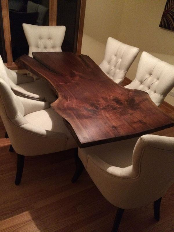 bookmatched live edge Black Walnut Table