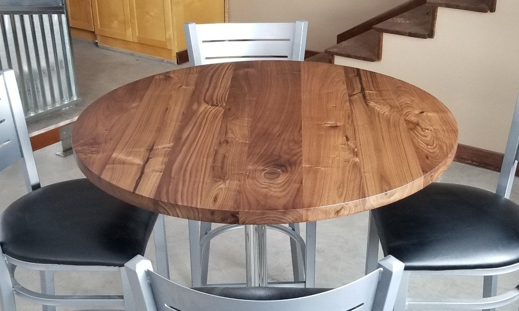 Round Walnut Solid Wood Table Tops