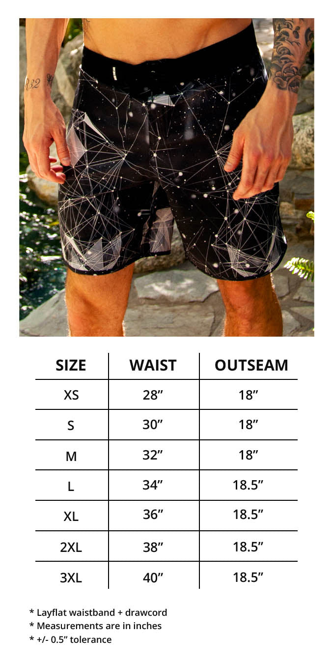 Men's Board Shorts Size Chart
