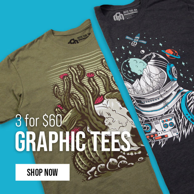 3 for $60 Graphic Tees 4/16