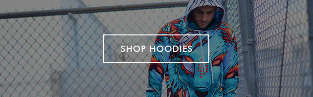 Button to Shop Men's All Over Print Hoodie Sweatshirts