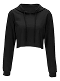 Women's Cropped Pullover Hoodie