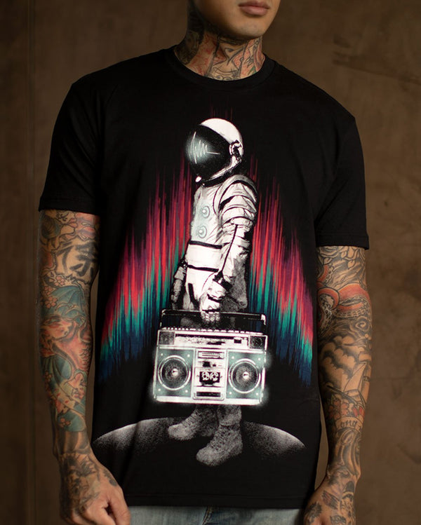 AstroBlaster Men's Tee-Black-Lifestyle