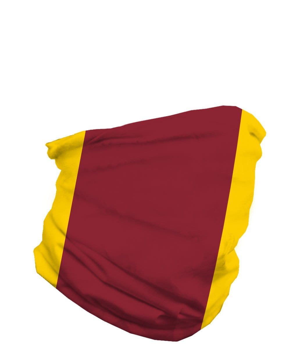 Burgundy and Gold Mask Bandana-Side