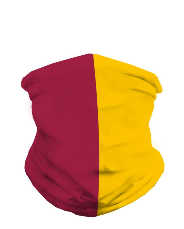 Cardinal and Yellow Mask Bandana-Front