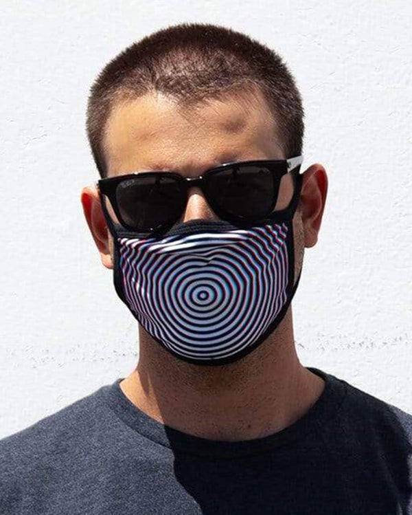 Optical Illusion Face Mask-Lifestyle