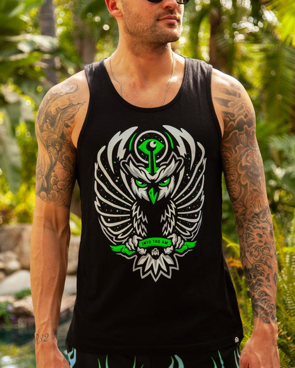 Chakra Owl Glow in the Dark Men's Tank Top-Lifestyle