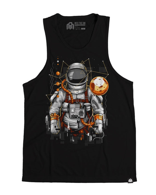 Moon Balloon Men's Tank Top-Black-Front