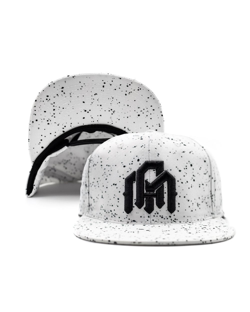 Paint Splatter - White Snapback-Flipped
