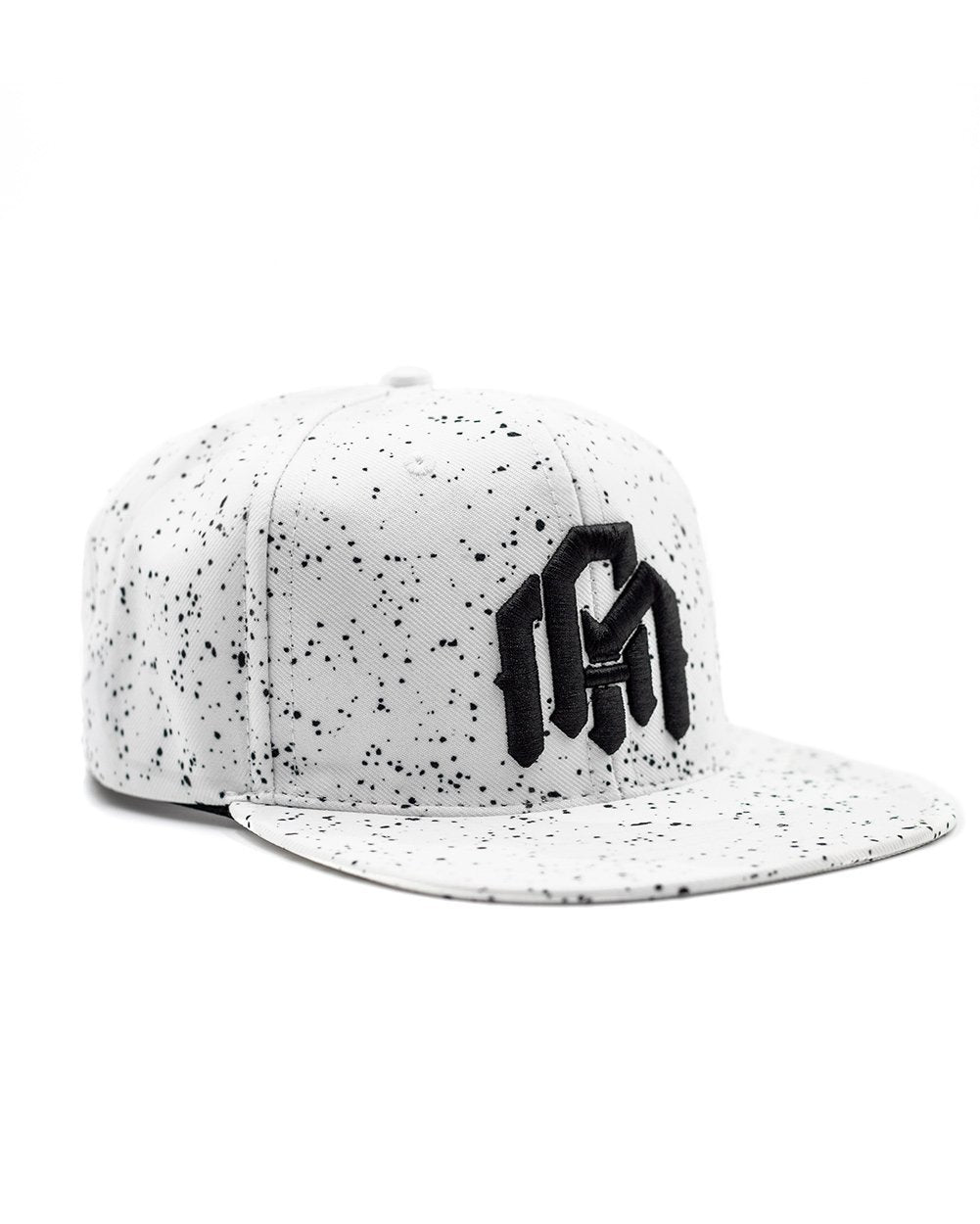 Paint Splatter - White Snapback-Side