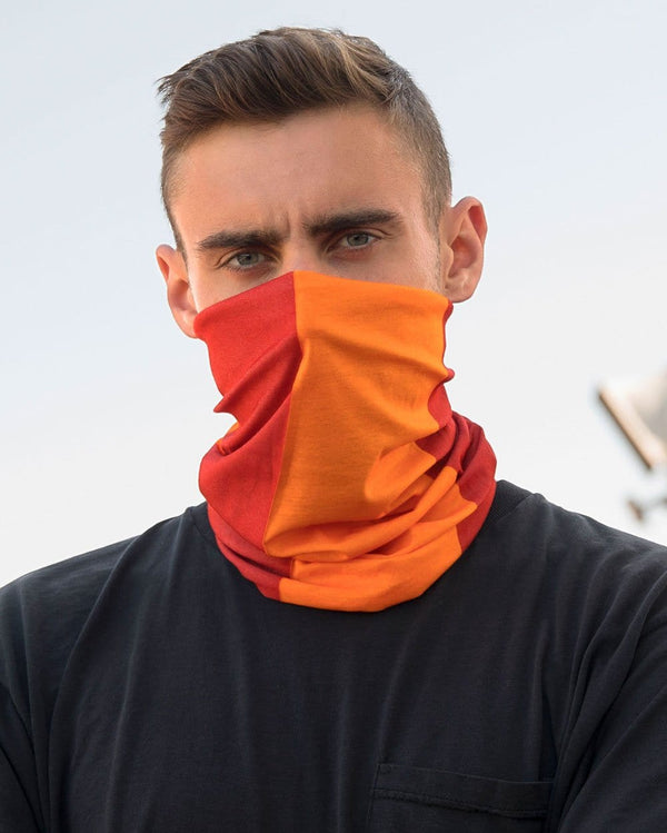Red and Orange Mask Bandana-Male-Lifestyle