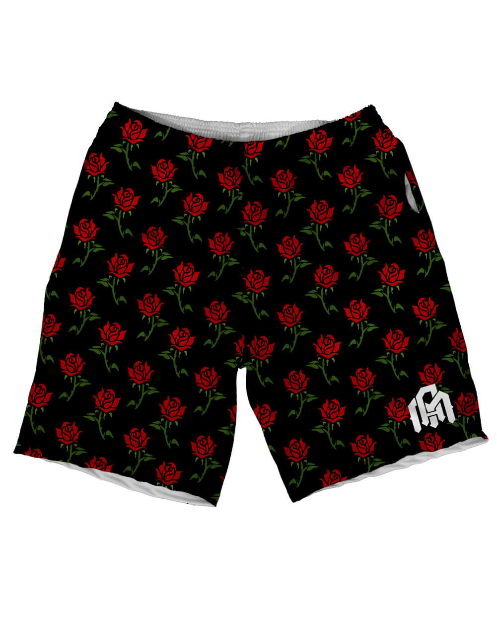 Roses Men's Athletic Shorts-Front