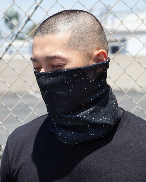 Paint Splatter - Black Seamless Bandana-Lifestyle3