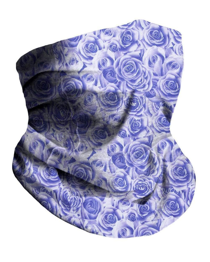 Violet Roses Seamless Mask Bandana-Side