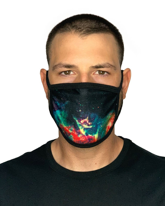 Space Fade Face Mask-Male-Front