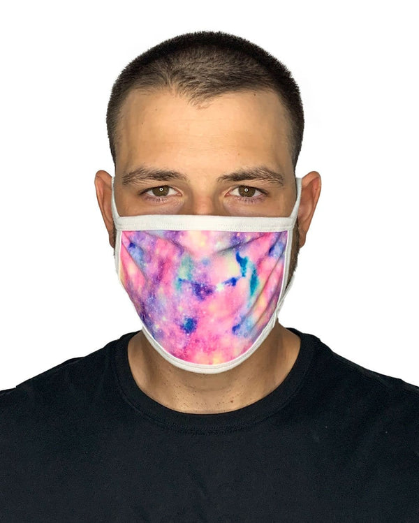 Unicorn Nebula Face Mask-Male-Front