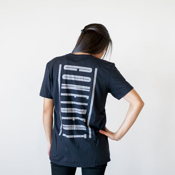 'CONFIDENT' silver imprint tee