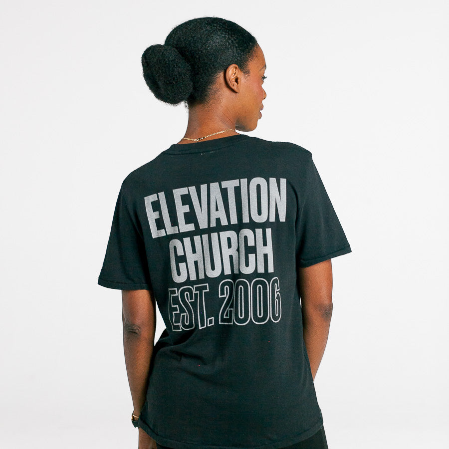 'Elevation Church' black tee