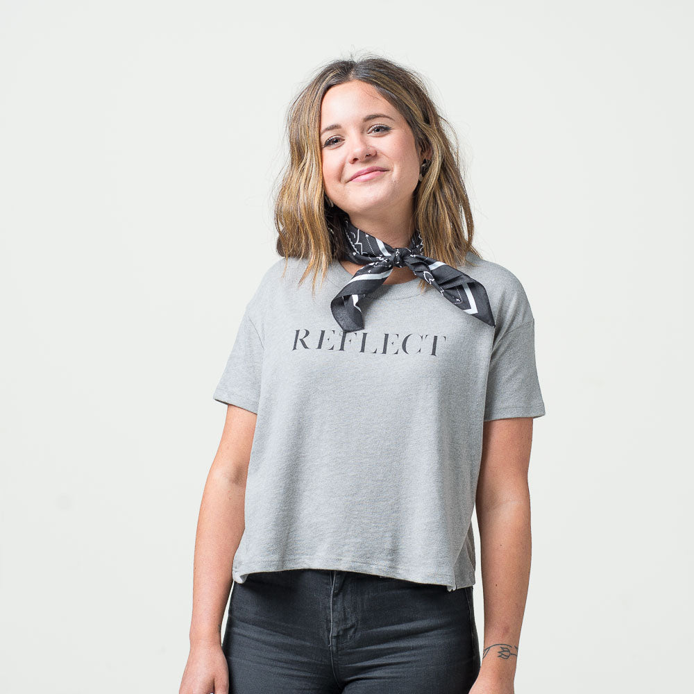 'Reflect' Cropped Tee