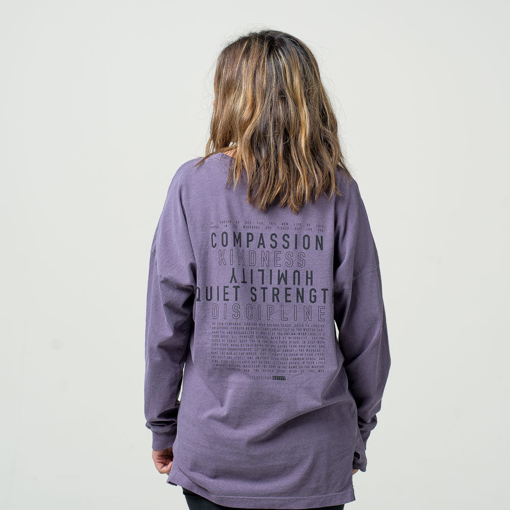 'Compassion' long sleeve tee