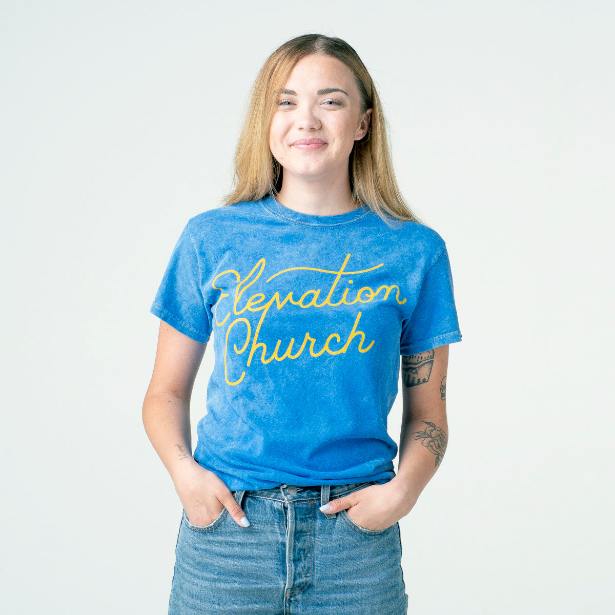 'Elevation Church' Mineral Wash Tee