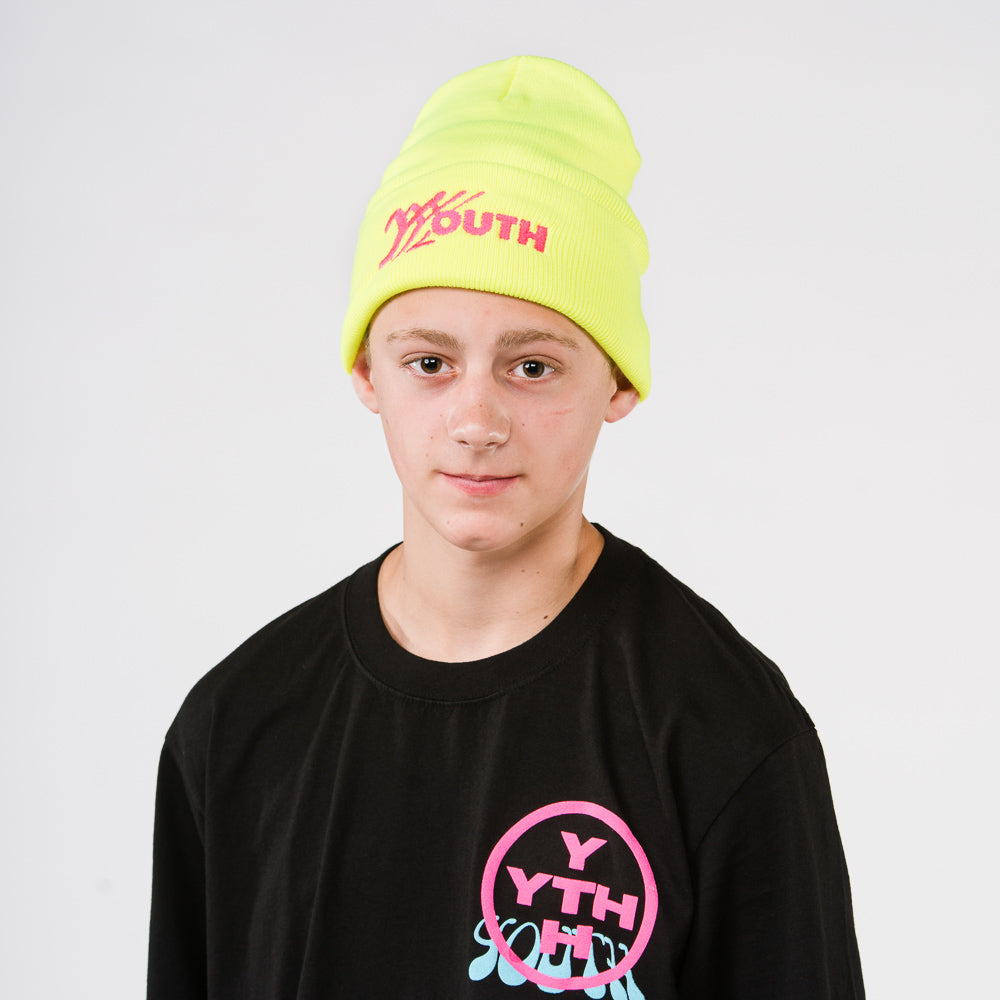 Youth Beanie - Neon Yellow