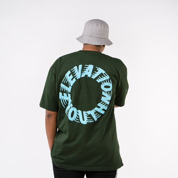 Elevation Youth Puff Print Tee - Moss